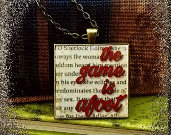 Sherlock Holmes Quote Pendant Necklace