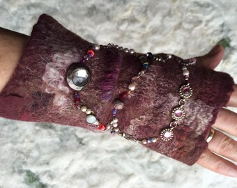 Hand warmers felted wool