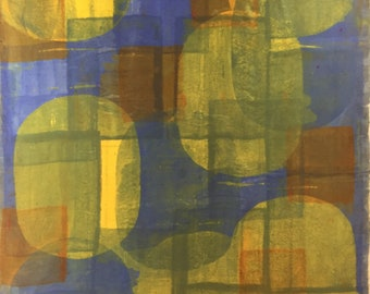 Hand Dyed Screened Silk Fabric!