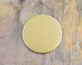 "20 Deburred 18G Brass 1 1/8"" Stamping Blanks Discs"