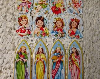 Vintage EAS Germany Die Cut Paper Scraps Heavenly Angels  EAS 3192A