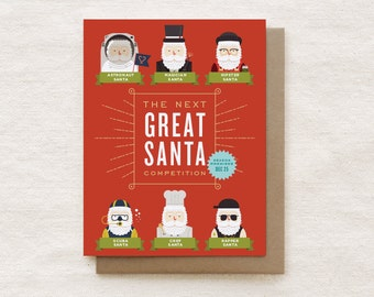 Funny Christmas Card, Funny Holiday Card, Funny Santa Card, Funny Xmas Card, Christmas Gift - The Next Great Santa Competition