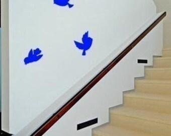Bird decal-Flying bird decal-Vinyl wall decal-Room decor-Flying birds sticker-Free shipping in th U.S.