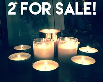 Two 320g intention candles