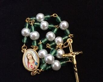 Handmade Glass Bead single decade Rosary
