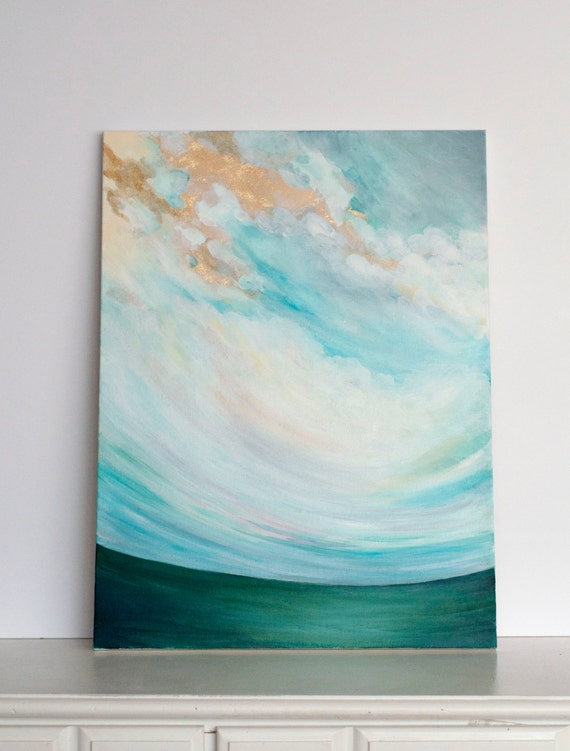 """Original 18x24 Painting """"Cloudscape No. 6"""" FREE SHIPPING"""