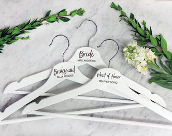 Wedding Hanger, Bride, Maid of Honor, Mother of the Bride, Personalized Hanger, Bridal Hanger, Custom Hanger, Dress Hanger --22303-HGR1-030