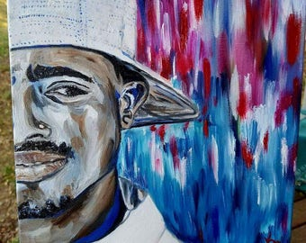 2Pac Original Oil Painting: Softer Side of Hip Hop