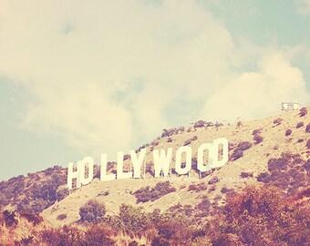 large LA print, Hollywood photograph, Los Angeles photography, Hollywood sign print, California decor, LA poster, travel photo, 36x36 print