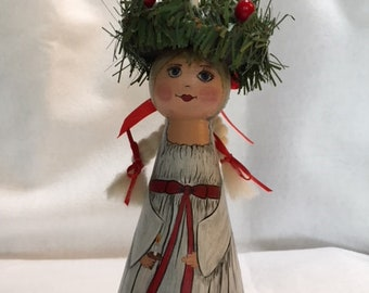 St. Lucia wooden doll
