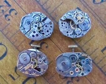 Steampunk watch parts - Vintage Antique Watch movements Steampunk - Scrapbooking W42