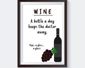 Printable Wall Art, Wall Art Prints, Wall Art, Printable Art, Art Print, Wall Decor, Quote Print, Wine Lover, Wine Print, Instant Download
