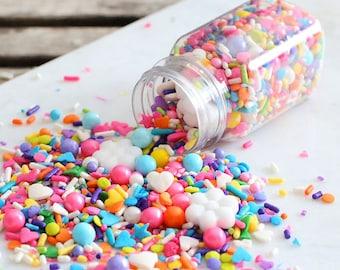 Sprinklefetti Bright Rainbow Sprinkles Mix, Edible Sprinkles, Sparkling Sugar, Sugar Pearls, Cake Sprinkles, Cupcake Sprinkles, Quins