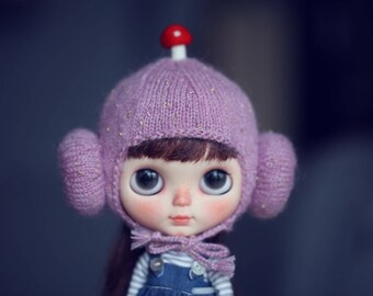 Momo handmade Helmet (hat ) for Blythe - doll outfit - 1colors in