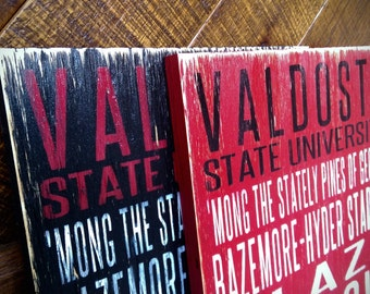 Valdosta State Blazers Distressed Wood Sign--Great Father's Day Gift!