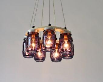 8 jar chandelier etsy aloadofball Gallery