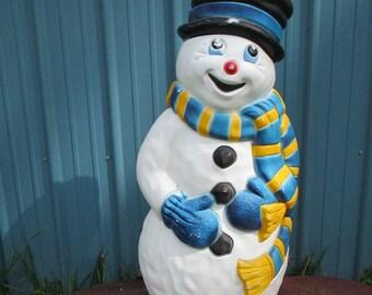 SnowMan Blow Mold Christmas Light