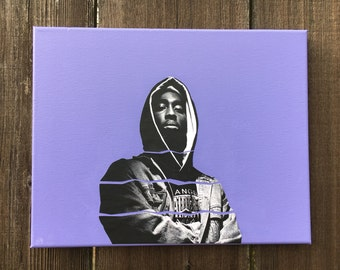 2Pac artwork, painting and mixed media