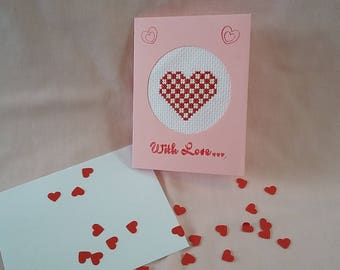 Valentine's Crossed Stitch Card