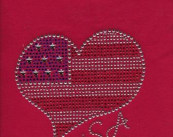 USA Red White Blue Flag