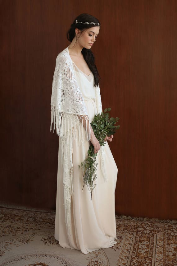 Wedding lace shawl Wedding cover up Lace cover up Bridal