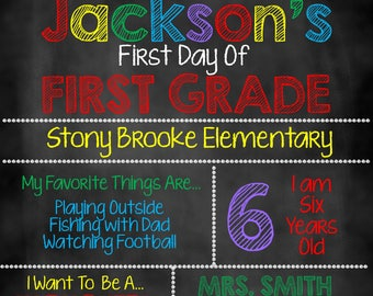 First Day Of School Chalkboard, First Day of School Sign