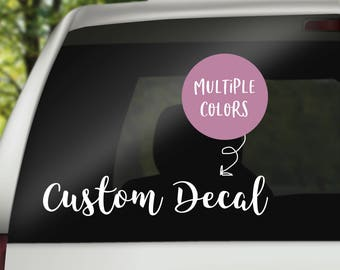 Car Stickers Etsy - Custom car window decals stickers