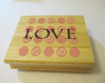 Love Wooden Stamp Craft Supplies