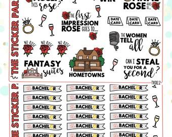 THE BACHELOR TV Show Planner Sticker Kit
