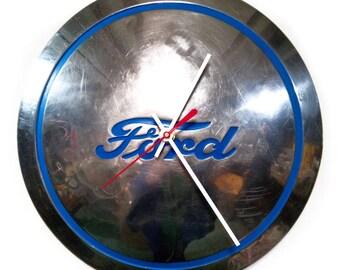 1940's Ford Truck Hubcap Clock - Man Cave Decor - Dad's Garage - Gift for Father