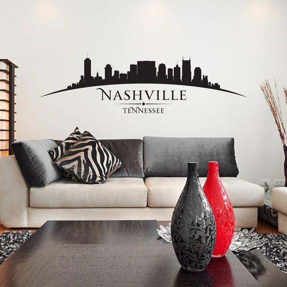 Nashville curved skyline vinyl graphic stencil decal item