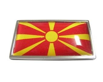 Thin Bordered Macedonia Flag Magnet