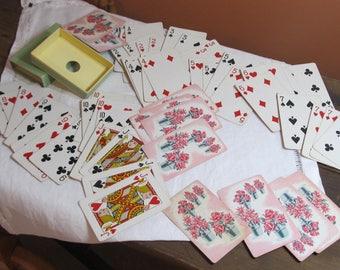 Card Deck, W P Co., Racine, WI; No. 64 Blossoms; in original box