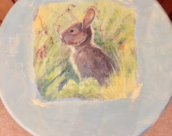 Country Hare Shabby Chic Stool