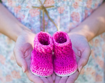 CROCHET PATTERN - Crochet Baby Booties Cable Stitch Booties - Baby Shoes - PDF
