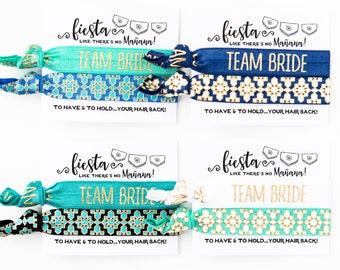 Hair Tie Bachelorette Favor | Fiesta Bachelorette Hair Tie Favors, Team Bride Bachelorette Hair Tie Favors, Fiesta Bachelorette Hair Ties