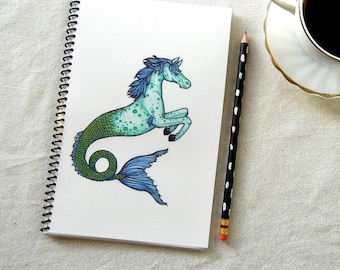 Mythical Hippocampus Seahorse Notebook