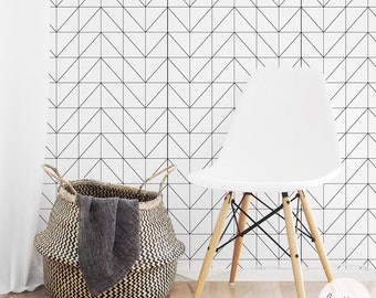 Geometric Wallpaper / Traditional or Removable Wallpaper A013