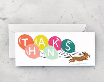 Thanks Doxie Greeting Card
