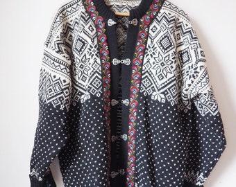 Vintage wool cardigan - 90's