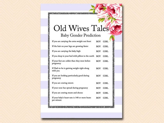 Wives tales to predict sex of baby