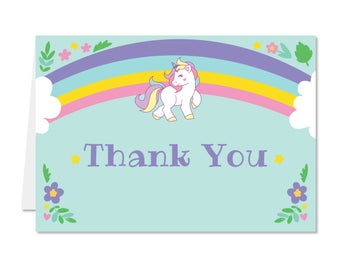 Printed Thank You Cards - Unicorn