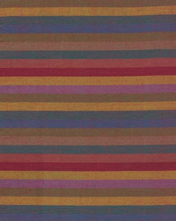 NARROW STRIPE  EARTH Woven narrow.earth  by  Kaffe Fassett fabric sold in 1/2 yard increments
