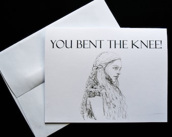 Game of Thrones (GOT) Khaleesi Funny Engagement/Wedding Card