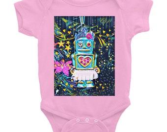 Robot Girl Onesie -Pink