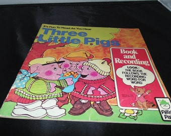 Vintage Three little Pigs Peter pan book PB 1981