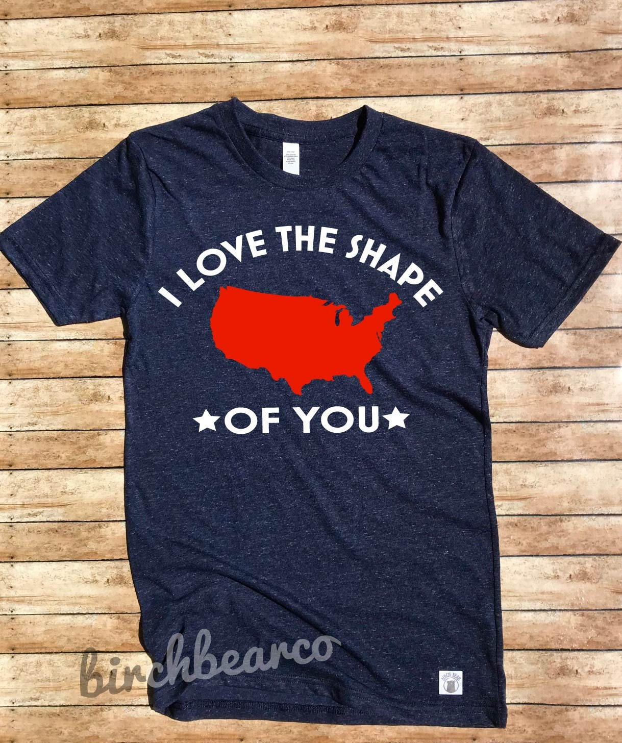 676ba737 Unisex Triblend T Shirt - I Love The Shape Of You - Patriotic Shirt ...