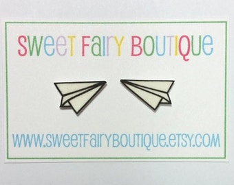 Paper Airplanes - stud earrings