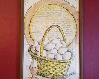 Soovia Janis Reuben Quiche Wall Art by Jacque- kitchen print, recipe print