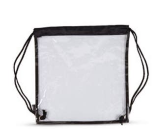 Clear 11x11 drawstring bag - Stadium
